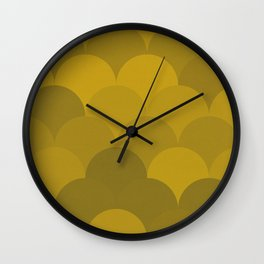 Mustard Mermaid Wall Clock