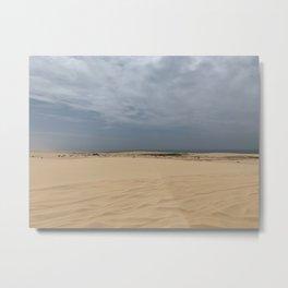 Sand Dunes at Stockton Sand Dunes, Port Stephens, Australia Metal Print