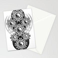 Seven Yin Yang Symmetry Balance Energy Stationery Cards