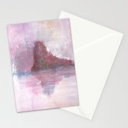 Abstract Red Landscape Stationery Cards