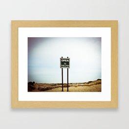open to shellfish Framed Art Print