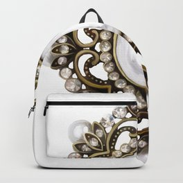 Painted Royal Brosche Backpack