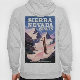 Sierra Nevada Spain ski poster. Hoody