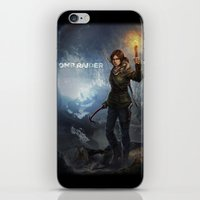 tomb raider iPhone & iPod Skins featuring Rise of the Tomb Raider - v01 by trixdraws