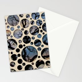 Dots on Tree Branches Stationery Cards