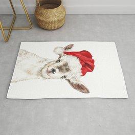 Oh My Christmas Goat Rug