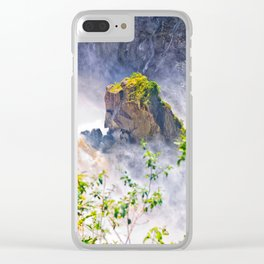 Rock in the falls Clear iPhone Case