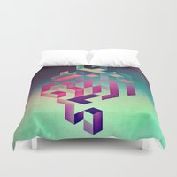 spires Duvet Covers featuring isyhyrtt dyymyndd spyyre by Spires