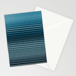 Oscillating Ocean Pattern Stationery Cards