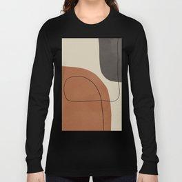 Modern Abstract Shapes #1 Long Sleeve T-shirt
