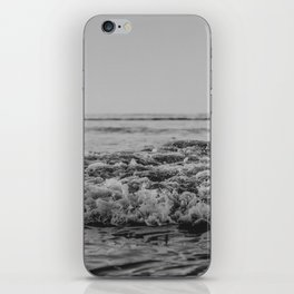 Black and White Pacific Ocean Waves iPhone Skin
