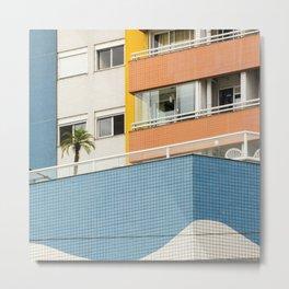 color block beach Metal Print