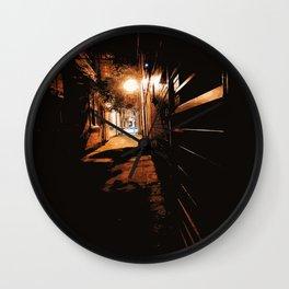 Night streets Wall Clock