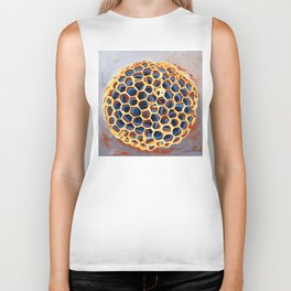 Sheltered, Macro Wasp Nest Painting Biker Tank