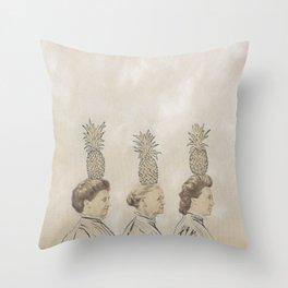 Pineapple Ladies Throw Pillow
