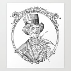 Fancy Freddy Art Print