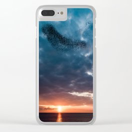 Murmuration of starlings Clear iPhone Case