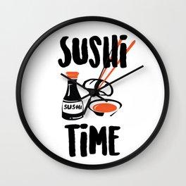 I love sushi Wall Clock