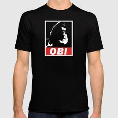 OBI LARGE Black Mens Fitted Tee