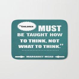 Famous Author Inspirational childrens Quote Bath Mat