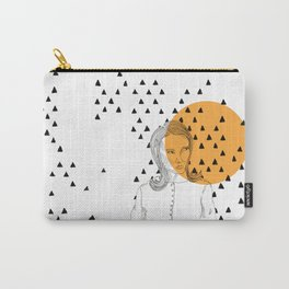 the skeptical lady orange Carry-All Pouch