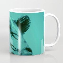Bear in transition,Blue Coffee Mug