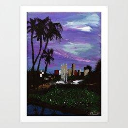 L.A. Pond Art Print