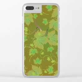 Grape Leaves Clear iPhone Case