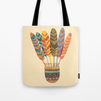 rustic Tote Bags featuring Rustic shuttlecock by Picomodi