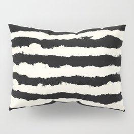 Tribal Stripes Black on Cream Pillow Sham