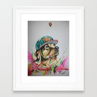 labrador Framed Art Prints featuring LABRADOR by EDSON RAMOS