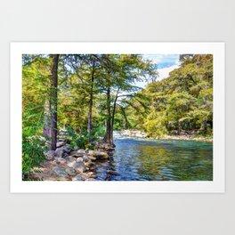Guadalupe River - Gruene Texas Kunstdrucke