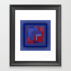 Blue Color Geometry Framed Art Print