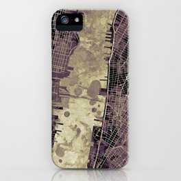 New York city map ink iPhone Case
