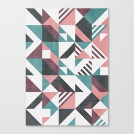 Geometrical pattern with stripes Canvas Print