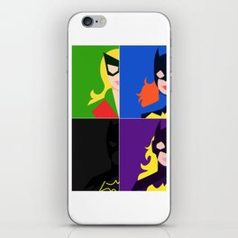 Batgirl Through The Ages iPhone Skin