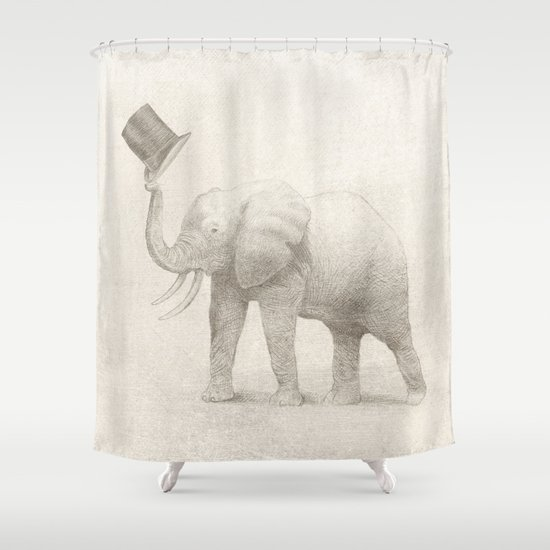 Good Morning (pencil option) Shower Curtain
