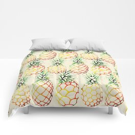 Burlap Pineapples Comforters