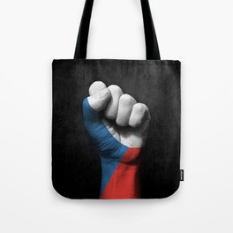 Czech Flag on a Raised Clenched Fist Tote Bag