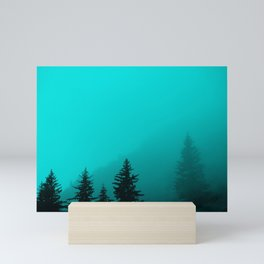 0345v2 Turquoise Fog - Seward, Alaska Mini Art Print