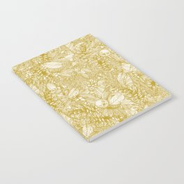 forest floor gold ivory Notebook