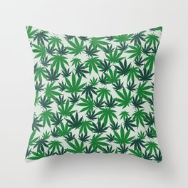 420 Cannabis mary jane Weed Pattern Gift Throw Pillow