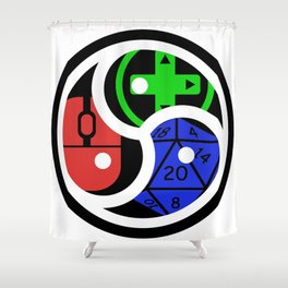 KG Discord Group Emblem Shower Curtain