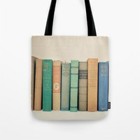 literary Tote Bags featuring Literary Gems I by Laura Ruth