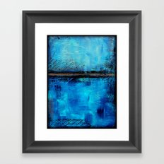 Looking down and into Framed Art Print