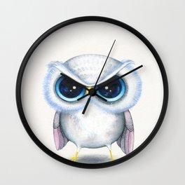 Grumpy Owl  Wall Clock