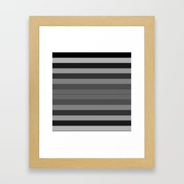 Black and Gray Stripes Framed Art Print