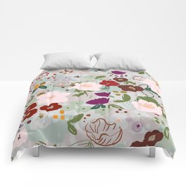 Rainy Day Floral Comforters
