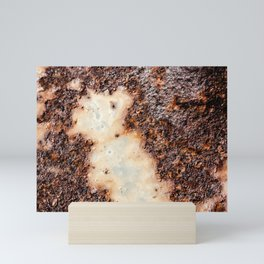 Cool brown rusty metal texture Mini Art Print