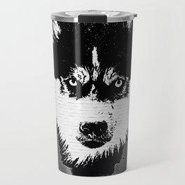 husky dog face grafiti spray art Travel Mug